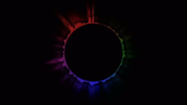 Circular Color Audio Equalizer, Kunst Video Illustration.