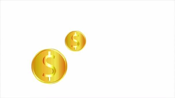 Der Niedergang der Goldmünzen und der Fall des Marktes, Art Video Illustration.