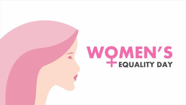 26. August, Tag der Gleichberechtigung von Frauen, Kunst-Video-Illustration.
