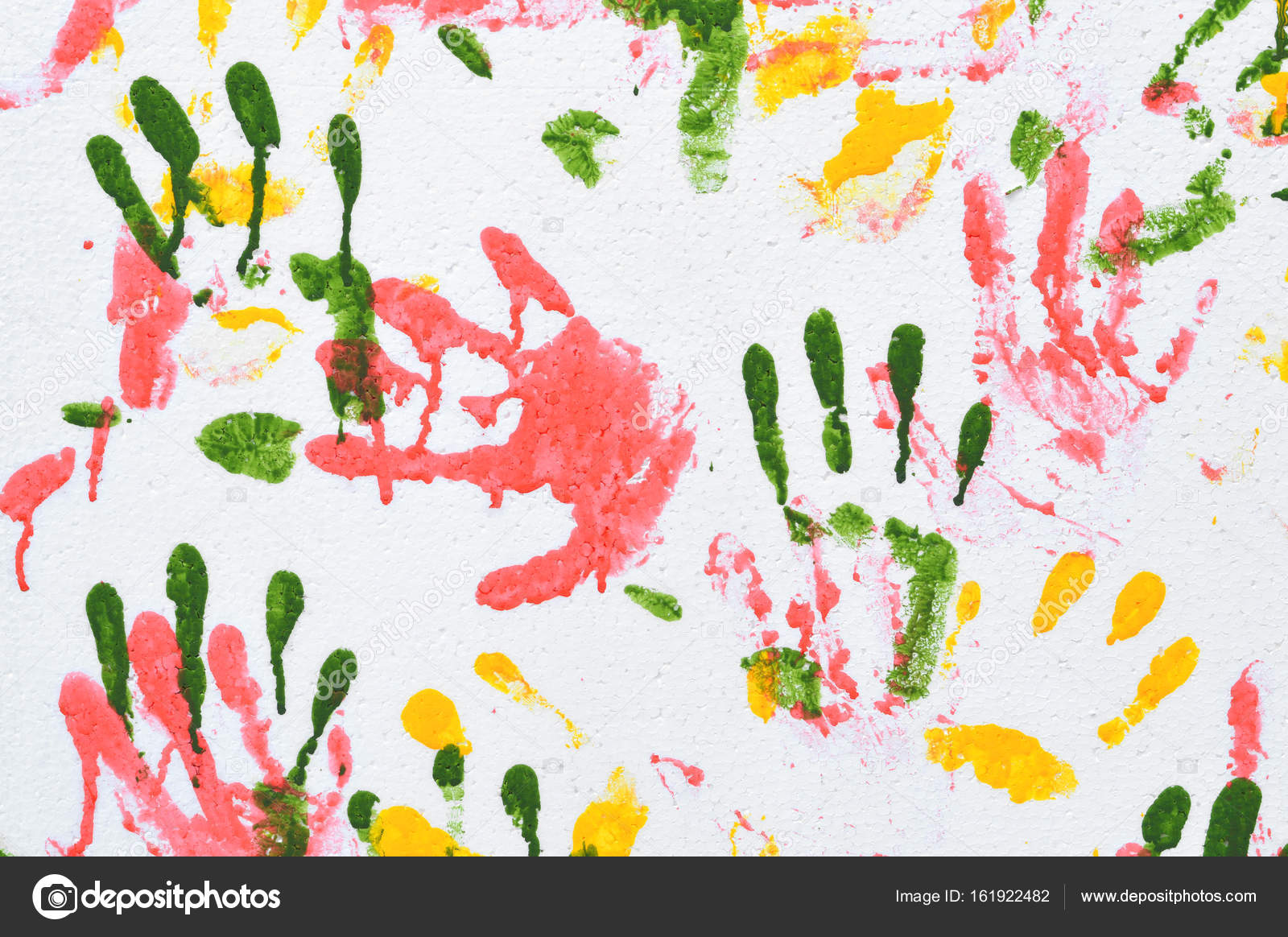 Background Handprint Colorful Handprint Background