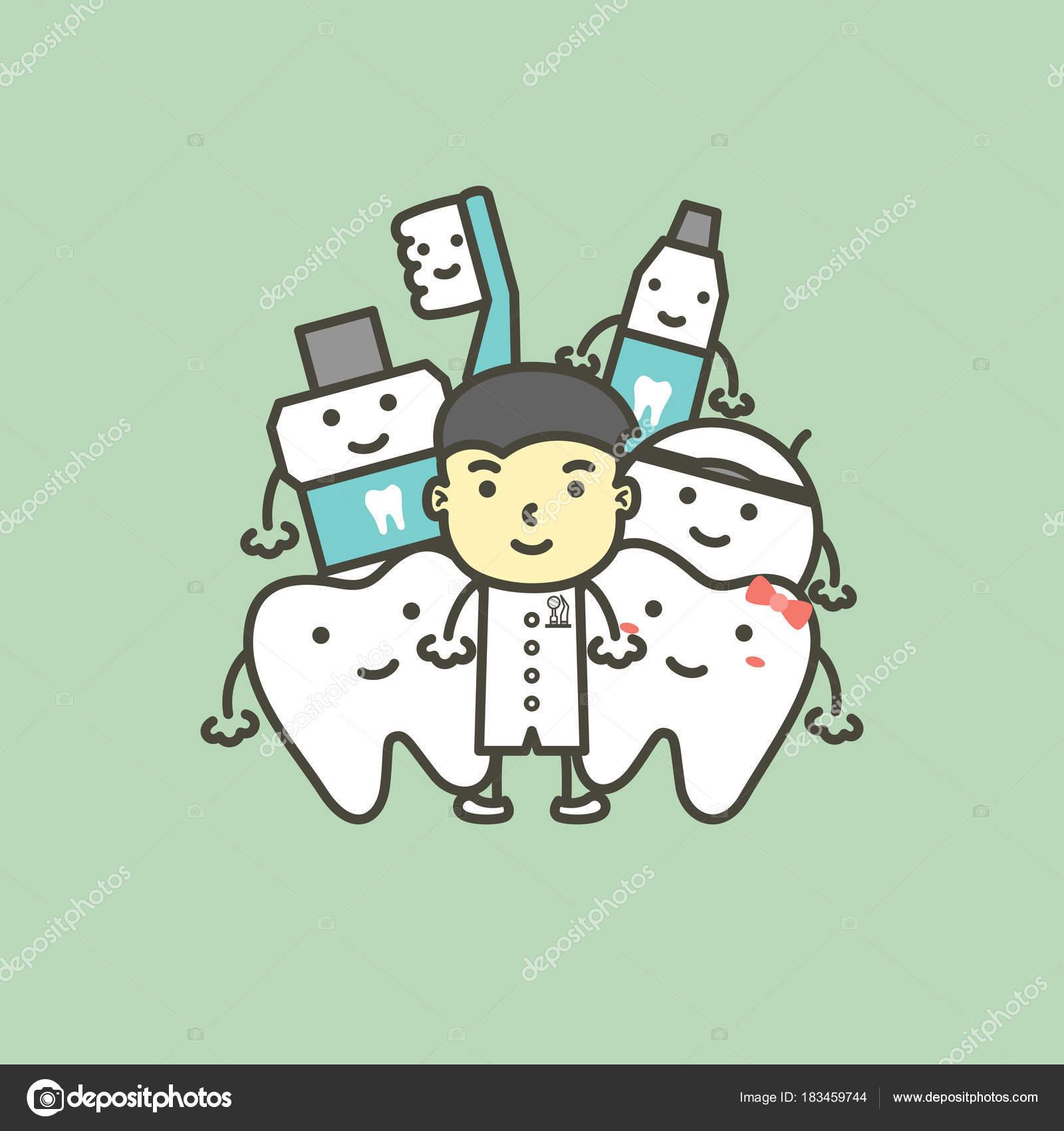 Animado Odontologo Para Colorear Dentista Hombre Y Mejor Amigo De