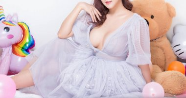 sexy young woman model in sexy dress