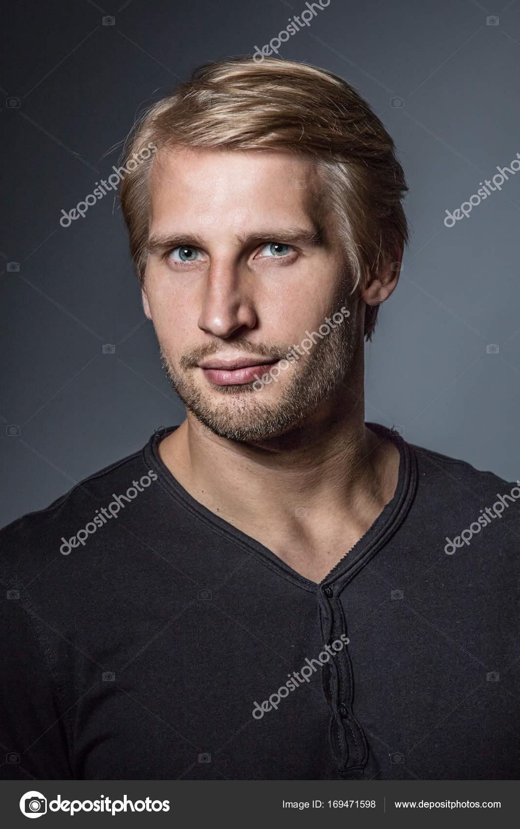 Muscular blonde guy
