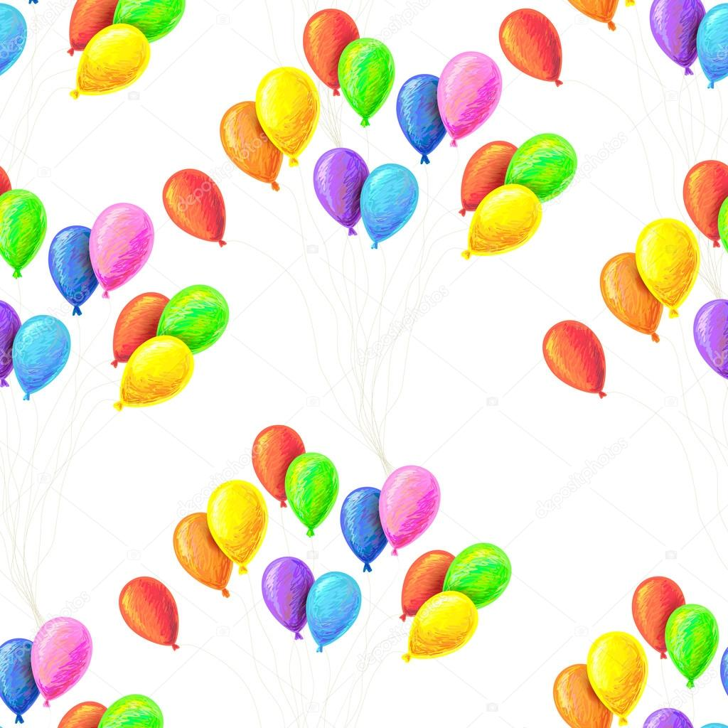 Wallpapers pattern fills web page backgrounds surface textures - Seamless Pattern With Balloons Perfect For Wallpapers Pattern Fills Web Page Backgrounds Surface Textures Textile Vector By Artskvortsova