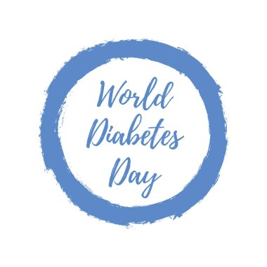 World Diabetes Day. Blue circle. Medical illustration. Health care