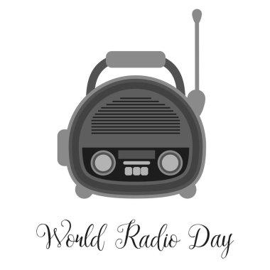 Radio for World Radio Day. Vector illustration