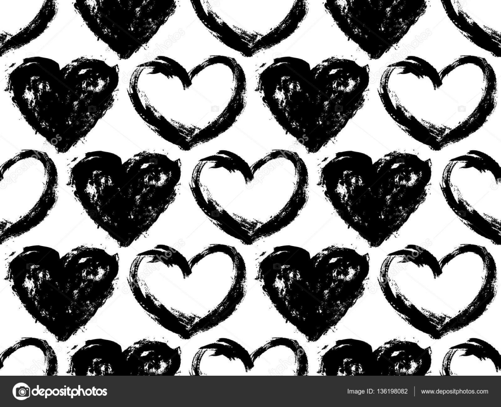 Seamless Pattern With Hearts Valentines Day Mothers