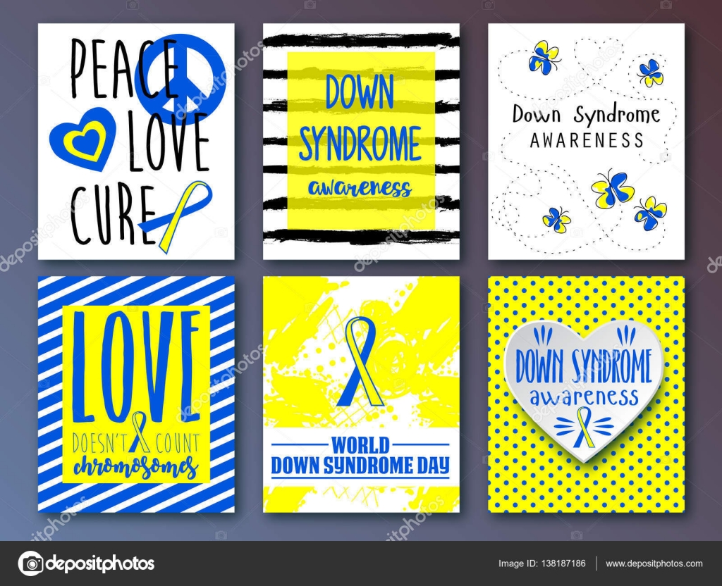 World down syndrome day symbol of down syndrome awareness medical medical vector illustration health care set of card invitation poster design templates collection of design elements vector by artskvortsova stopboris Choice Image