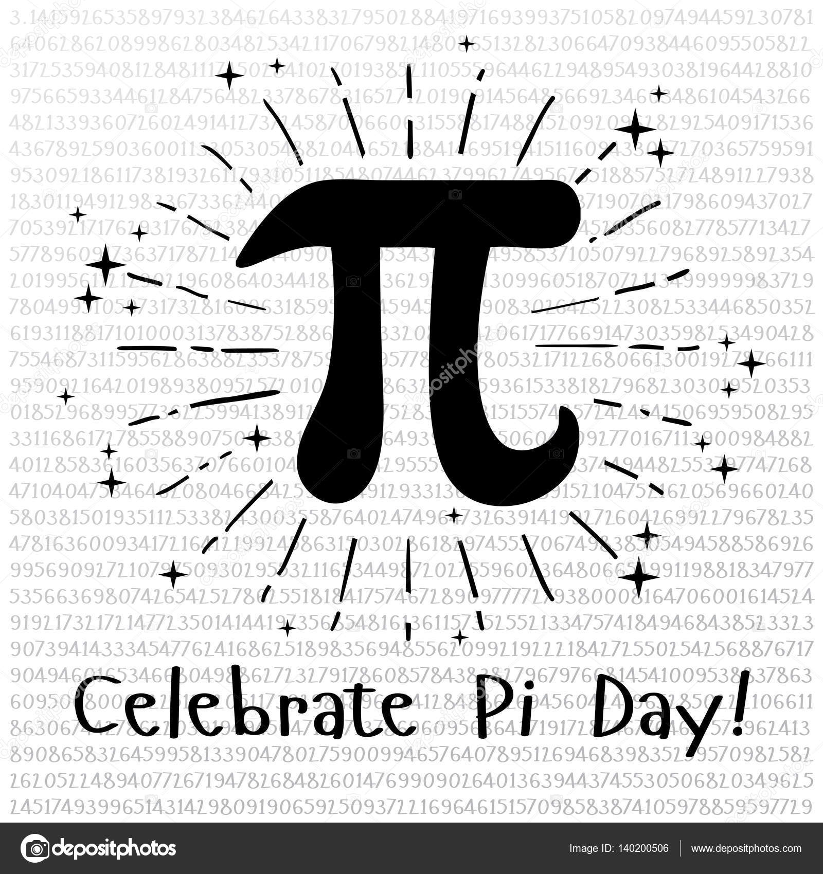 Happy Pi Day Celebrate Pi Day Mathematical Constant March Th   Ratio Of A Circles Circumference To Its Diameter Constant Number Pi Vector By