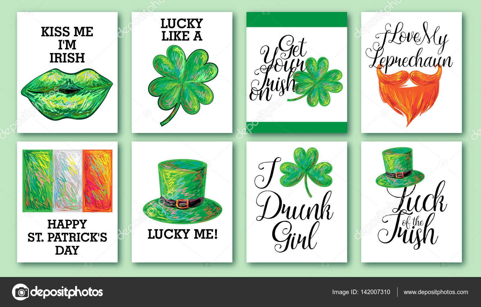 Día feliz San Patricio. Fondo irlandés. Diseño de la celebración ...