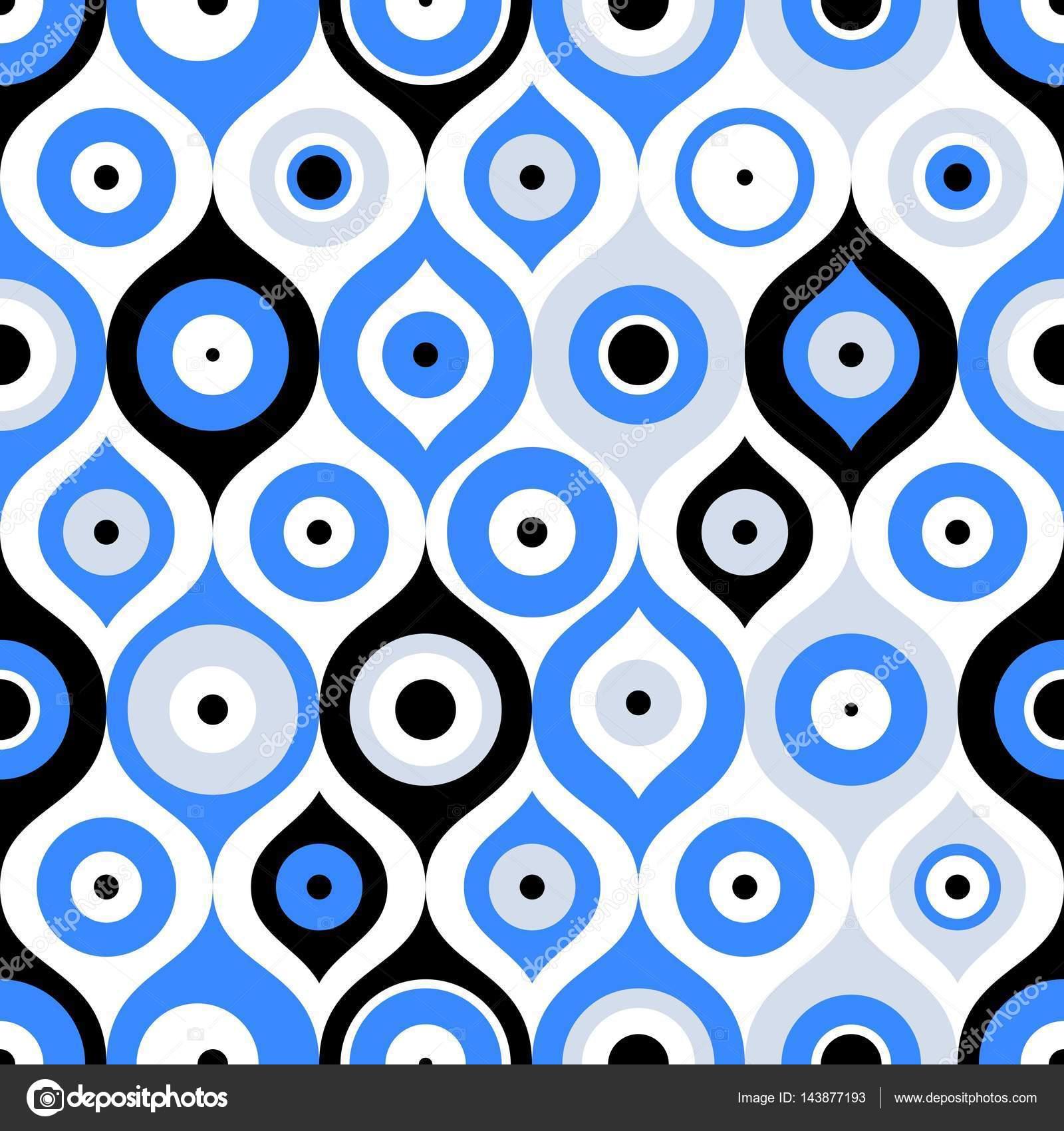 Seamless Pattern With Turkish Evil Eye Bead Good Luck Turkish Tile