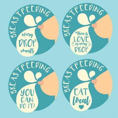 Breastfeeding badge set