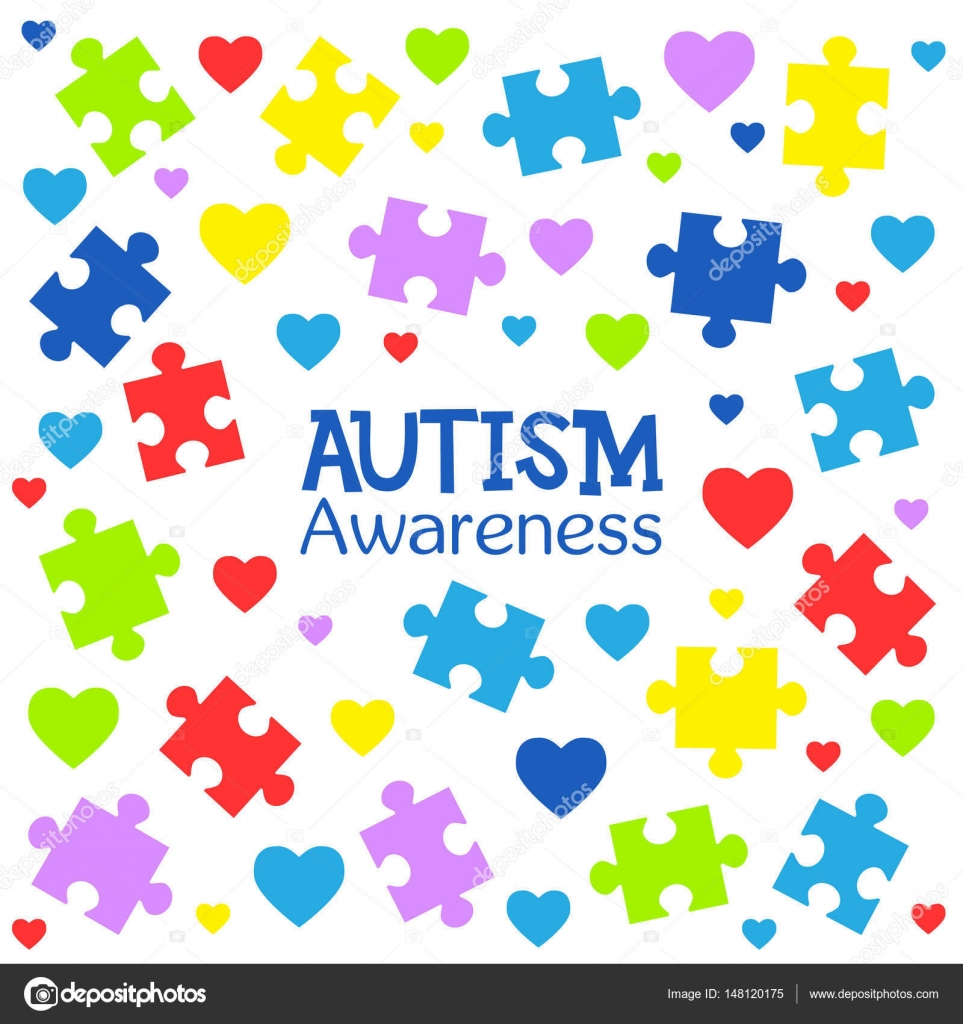 World autism awareness day colorful puzzles and hearts vector world autism awareness day colorful puzzles and hearts vector background symbol of autism biocorpaavc