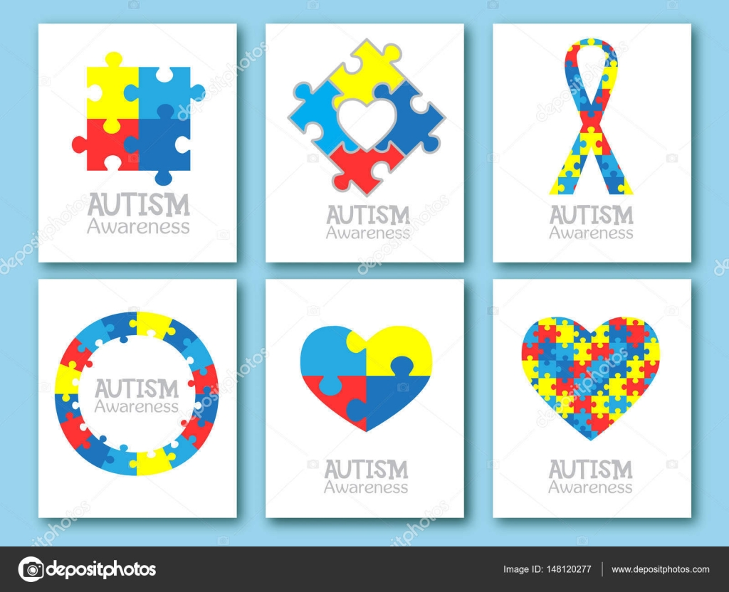 World autism awareness day colorful puzzle symbol of autism vector medical flat illustration health care set of card invitation poster design template collection of design element vector by artskvortsova stopboris Images