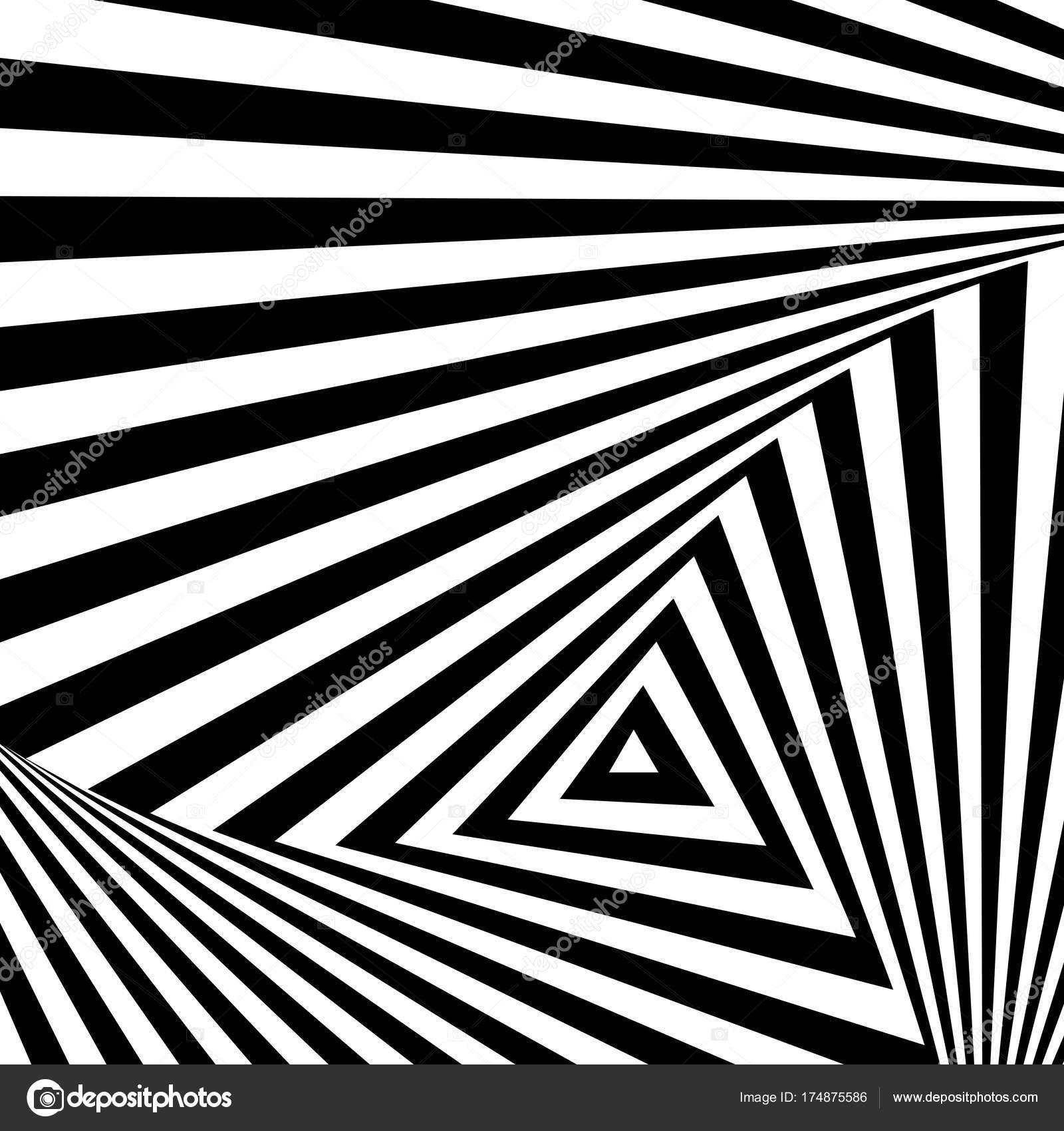 Sfondo Bianco E Nero Illusione Ottica Astratto Geometrico Per Il