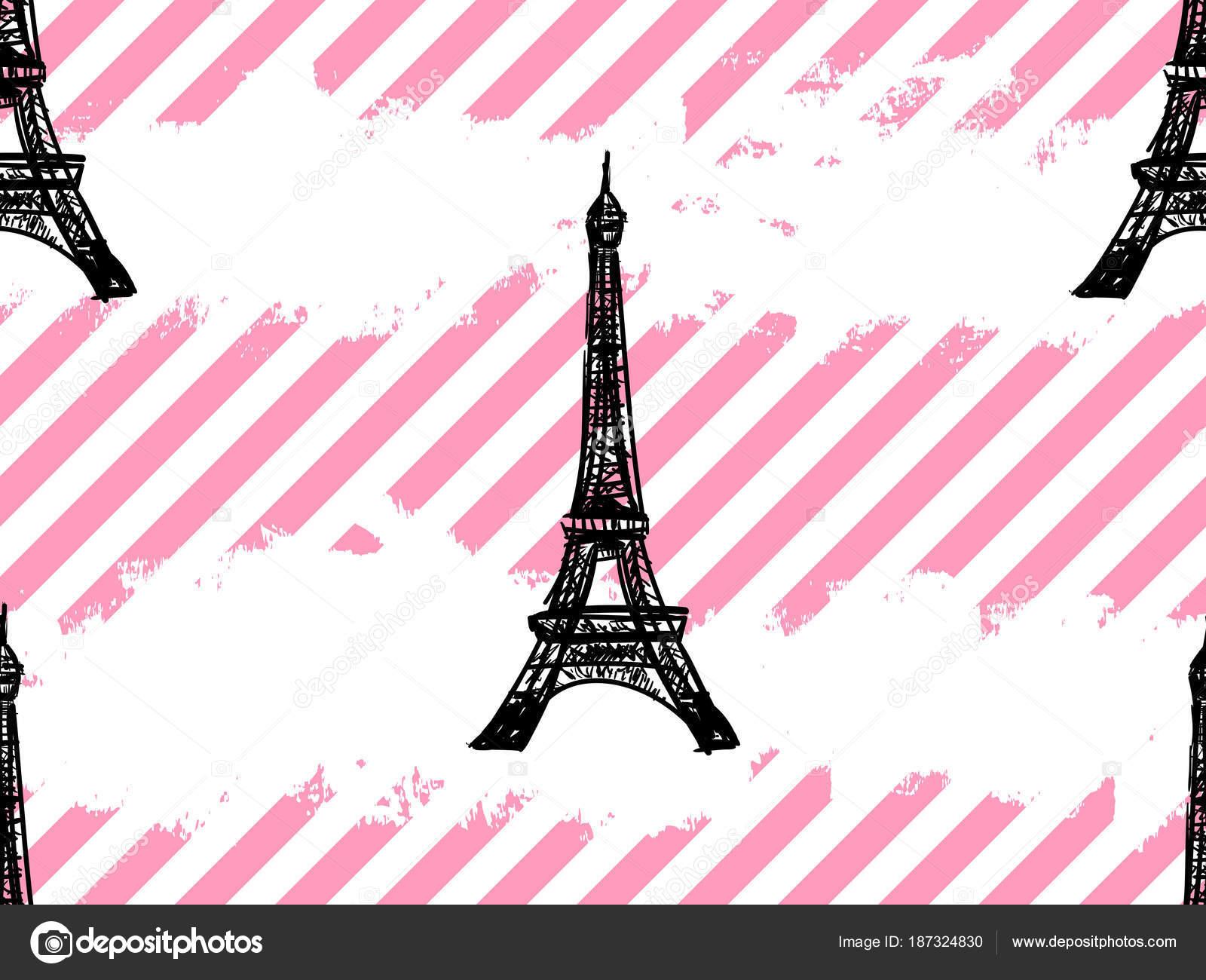 Musterdesign Paris Mit Eiffelturm Franzosische Vektor Hintergrund