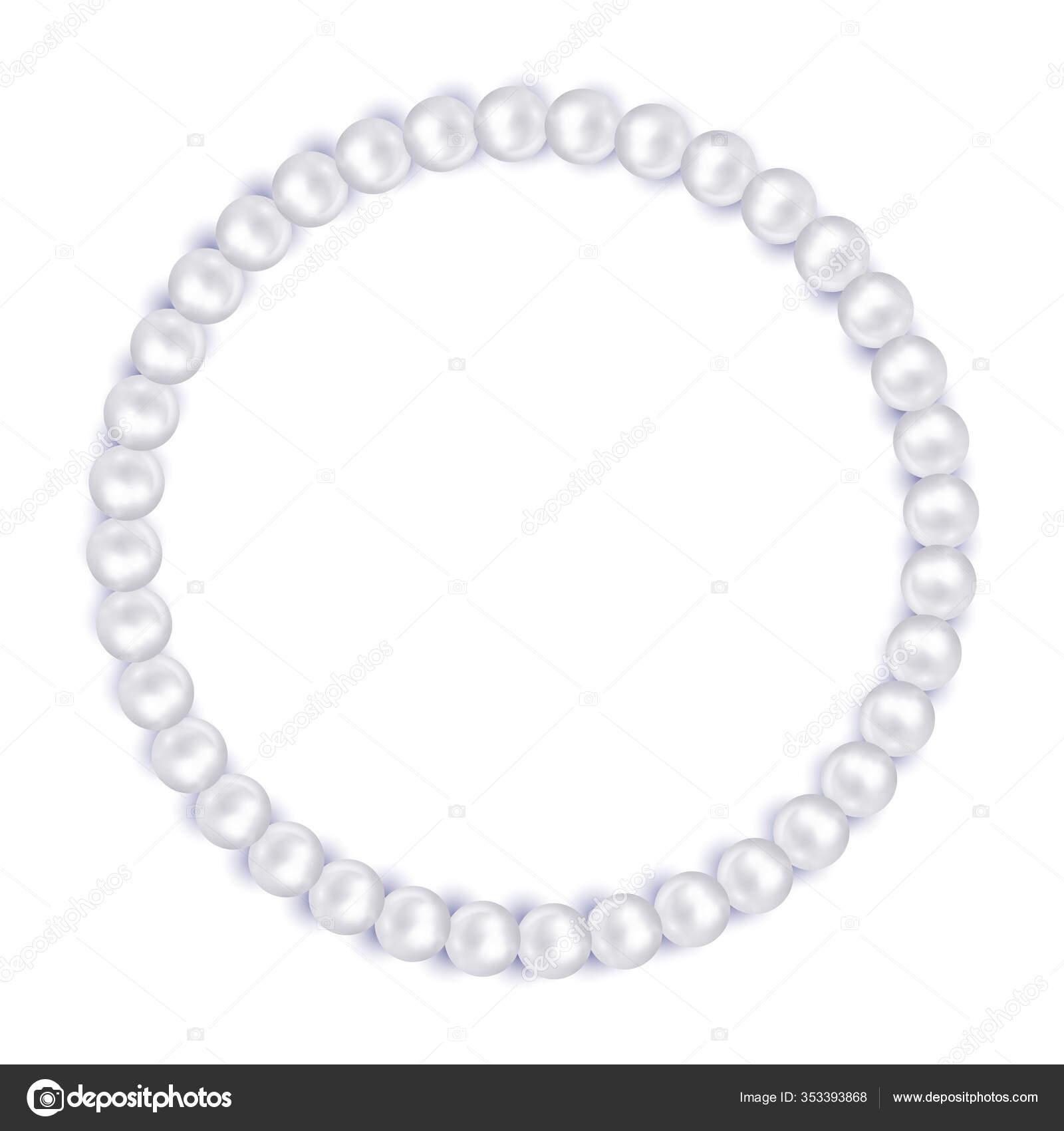 Pearl Necklace Pearl Beads Frame Jewelry Bracelet Necklace Wedding Invitation Vector Image By C Artskvortsova Vector Stock 353393868