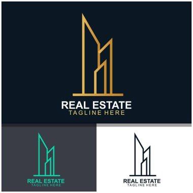 Real estate logo design. modern and elegant style design