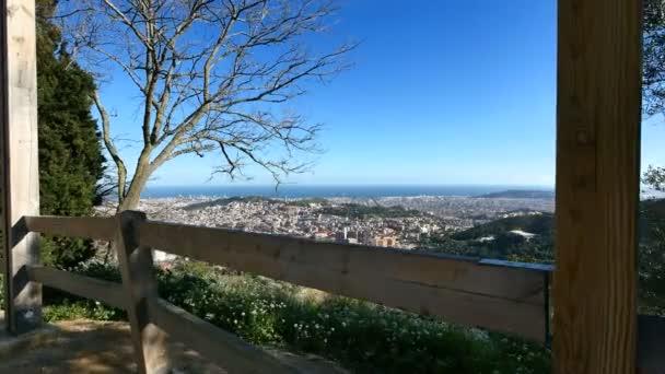 Barcelona City Panoramic View from Tibidabo