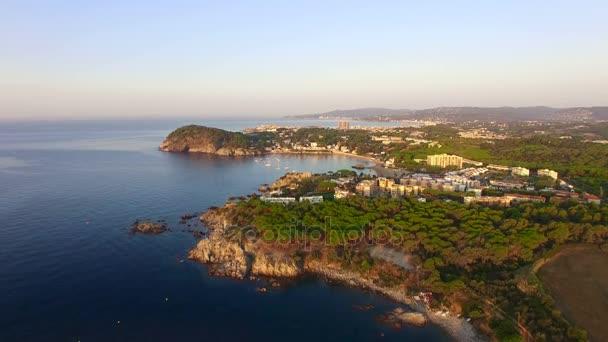 Mediterranean Coast Seaside Aerial Drone Costa Brava