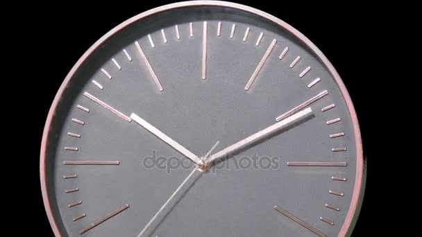 Moderne Uhr moderne uhr gesicht schnell zeitraffer stockvideo creativesight