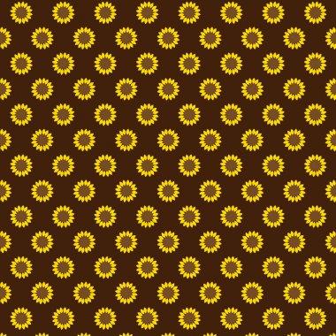 seamless sunflower pattern