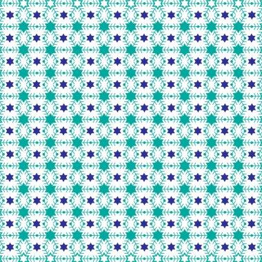 stars of david  snowflakes pattern