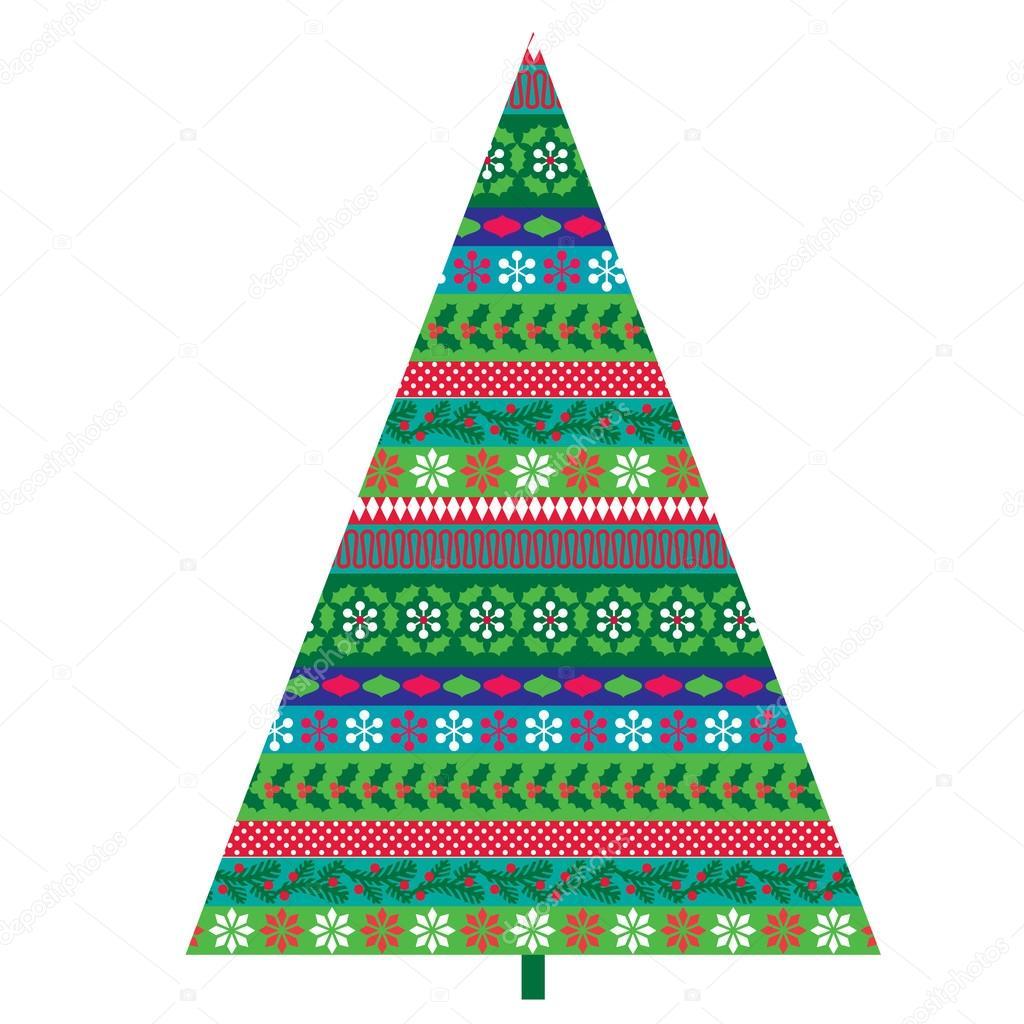 Arbol De Navidad Con Motivos Archivo Imagenes Vectoriales - Motivos-navidad
