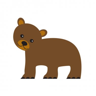 cute bear wild animal isolated icon