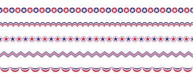 red white blue patriotic borders