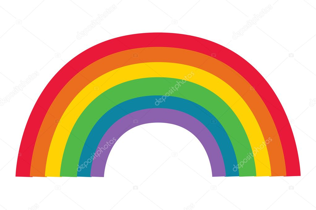 Abstract background, rainbow poster