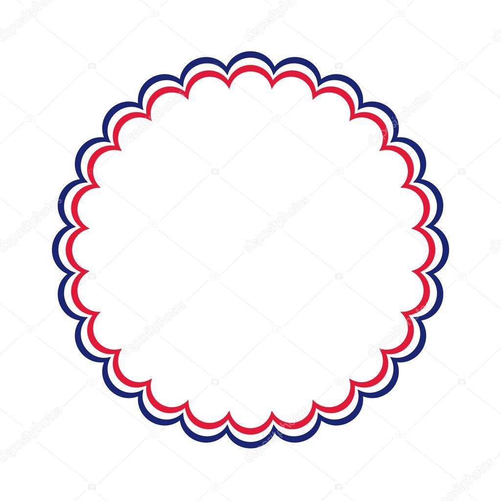marco patriótico azul blanco rojo — Archivo Imágenes Vectoriales ...