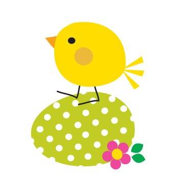 Cute Easter chick vector illustration clip art vector