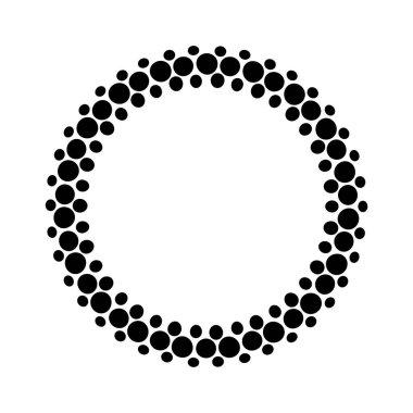 frame of black dots
