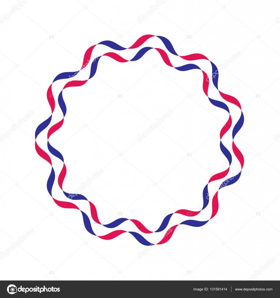 marco de cintas rojas y azules — Archivo Imágenes Vectoriales ...