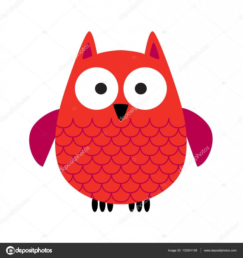 Dibujos Animales De Color Rojo Buho Rojo De Dibujos Animados
