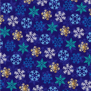 abstract pattern of snowflakes