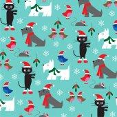 Fotografie Muster von Weihnachten Tiere