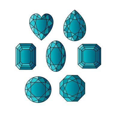 aquamarine gemstone pattern