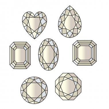 set of gemstone pattern