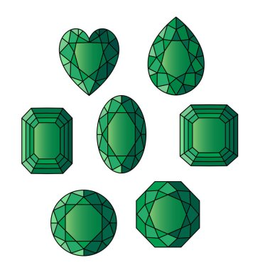 green gemstone pattern