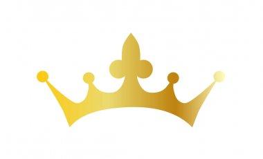 metallic gold crown