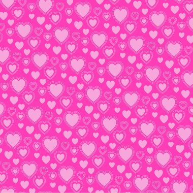 Vector valentine pink heart pattern on pink background stock vector