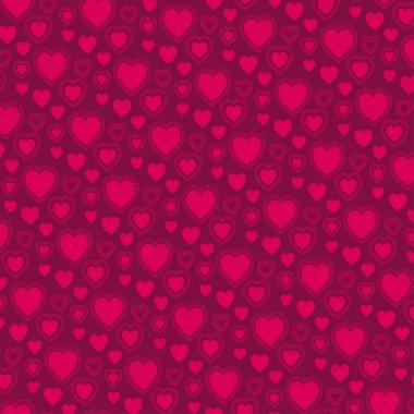 Vector valentine red heart pattern stock vector