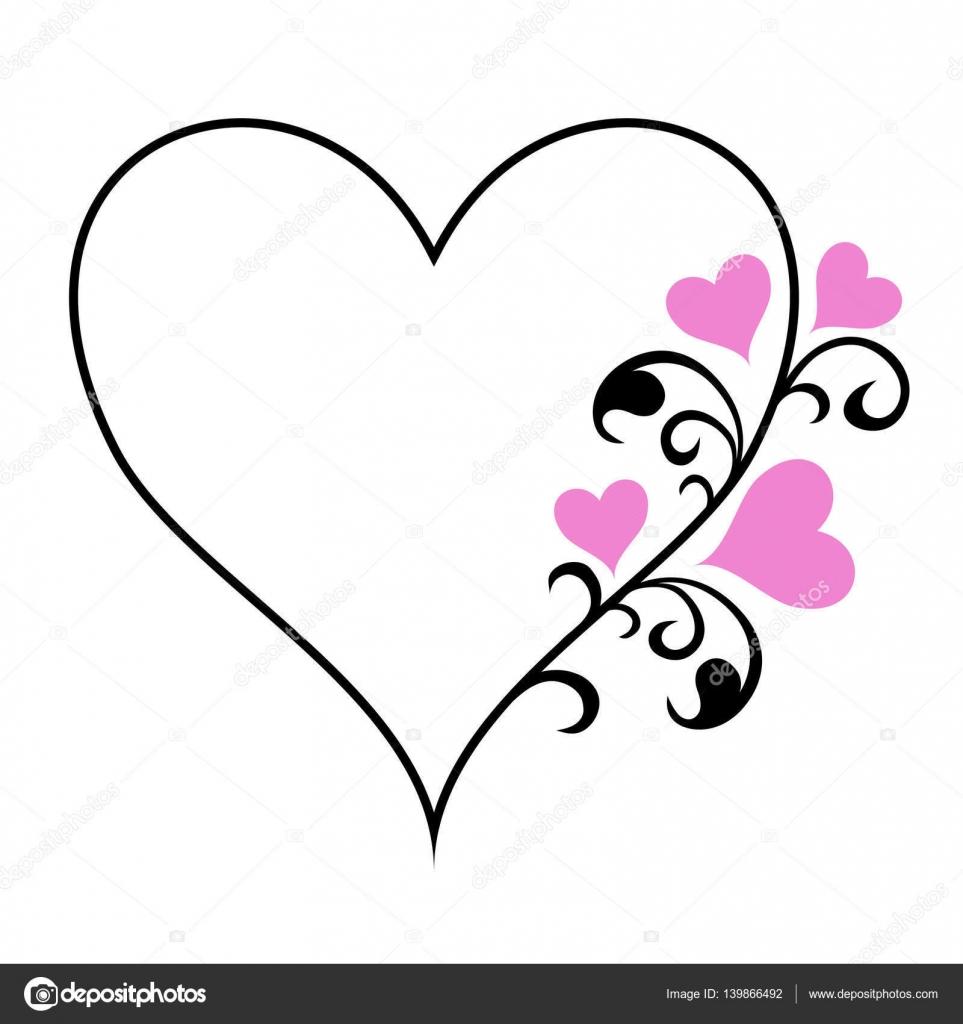 heart shaped Frame — Stock Vector © scrapster #139866492