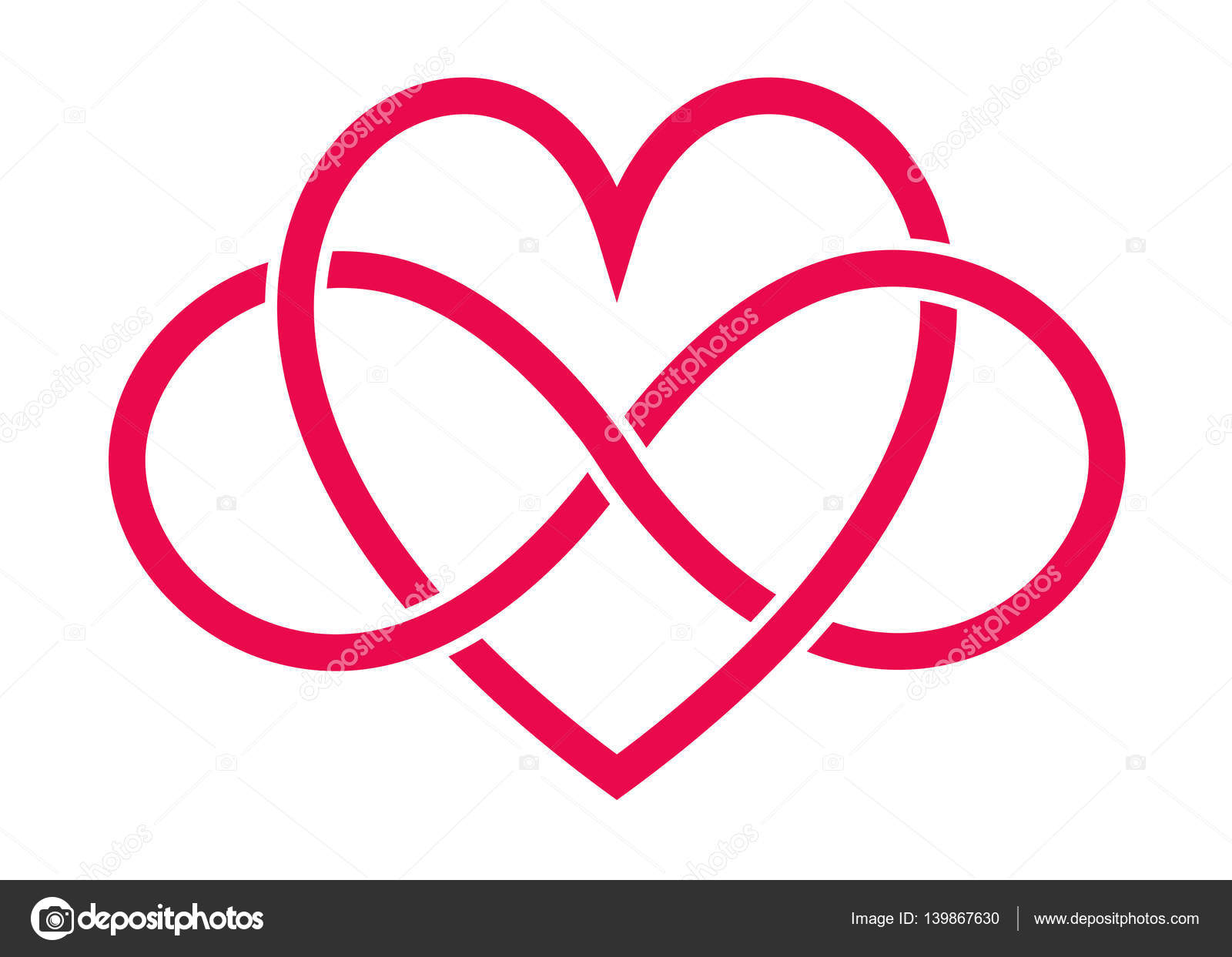 Red heart and infinity signs stock vector scrapster 139867630 red heart and infinity signs stock vector buycottarizona Gallery