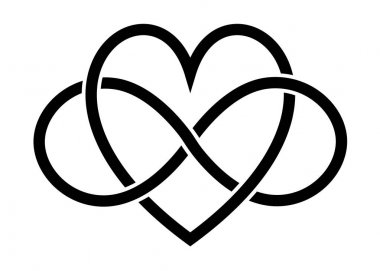 heart and infinity signs