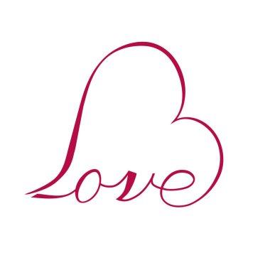 valentine Love inscription