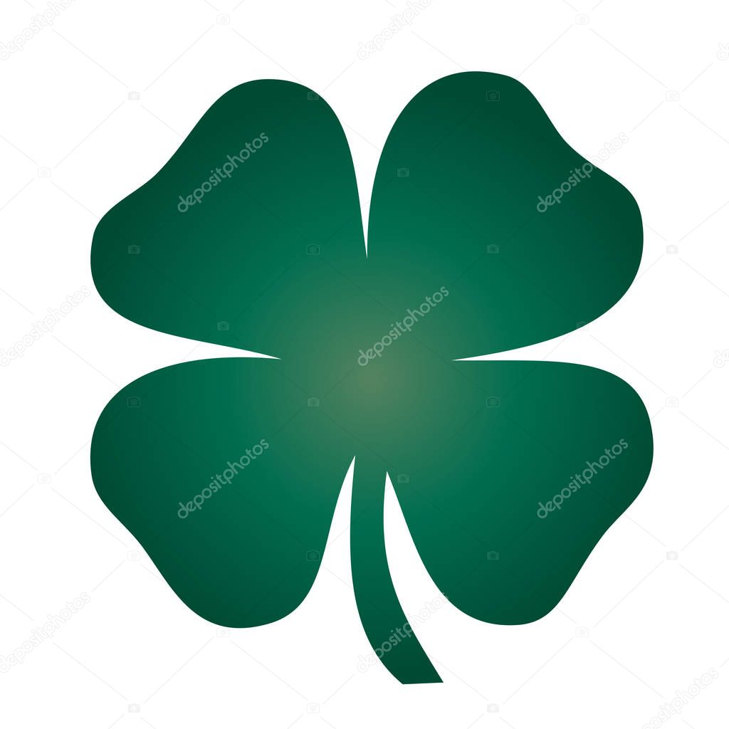 Green four leaf Clover