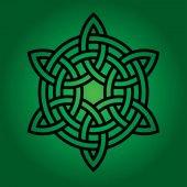 Photo black celtic knot on gradient